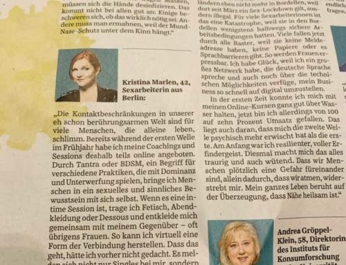 Corona-Protokoll in der Süddeutschen Zeitung